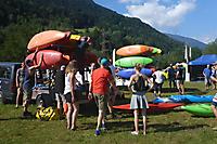 Schweizer Wildwasserwoche 2019 - Hänger laden